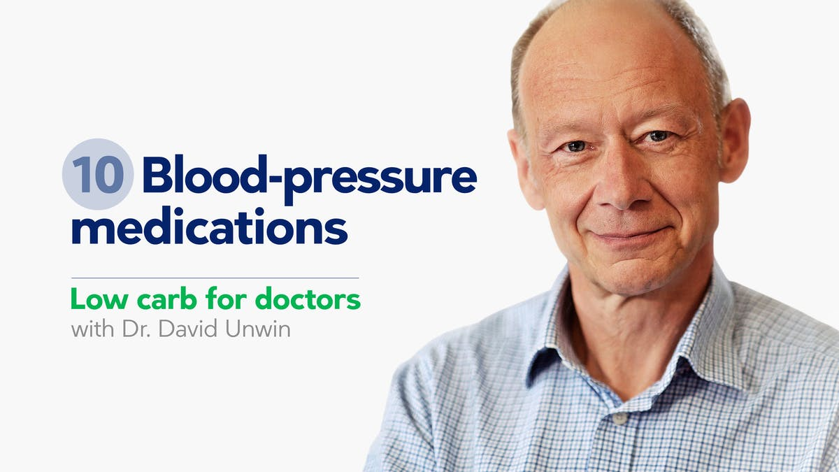 Low carb for doctors: blood-pressure medications