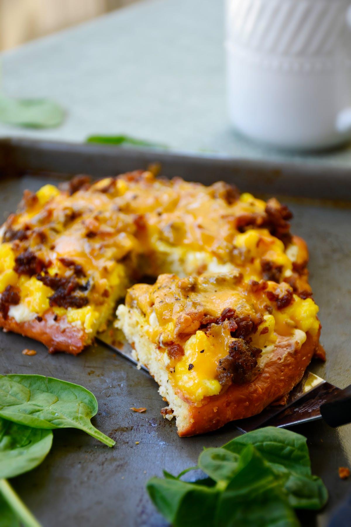 Sullivan's keDough breakfast pizza