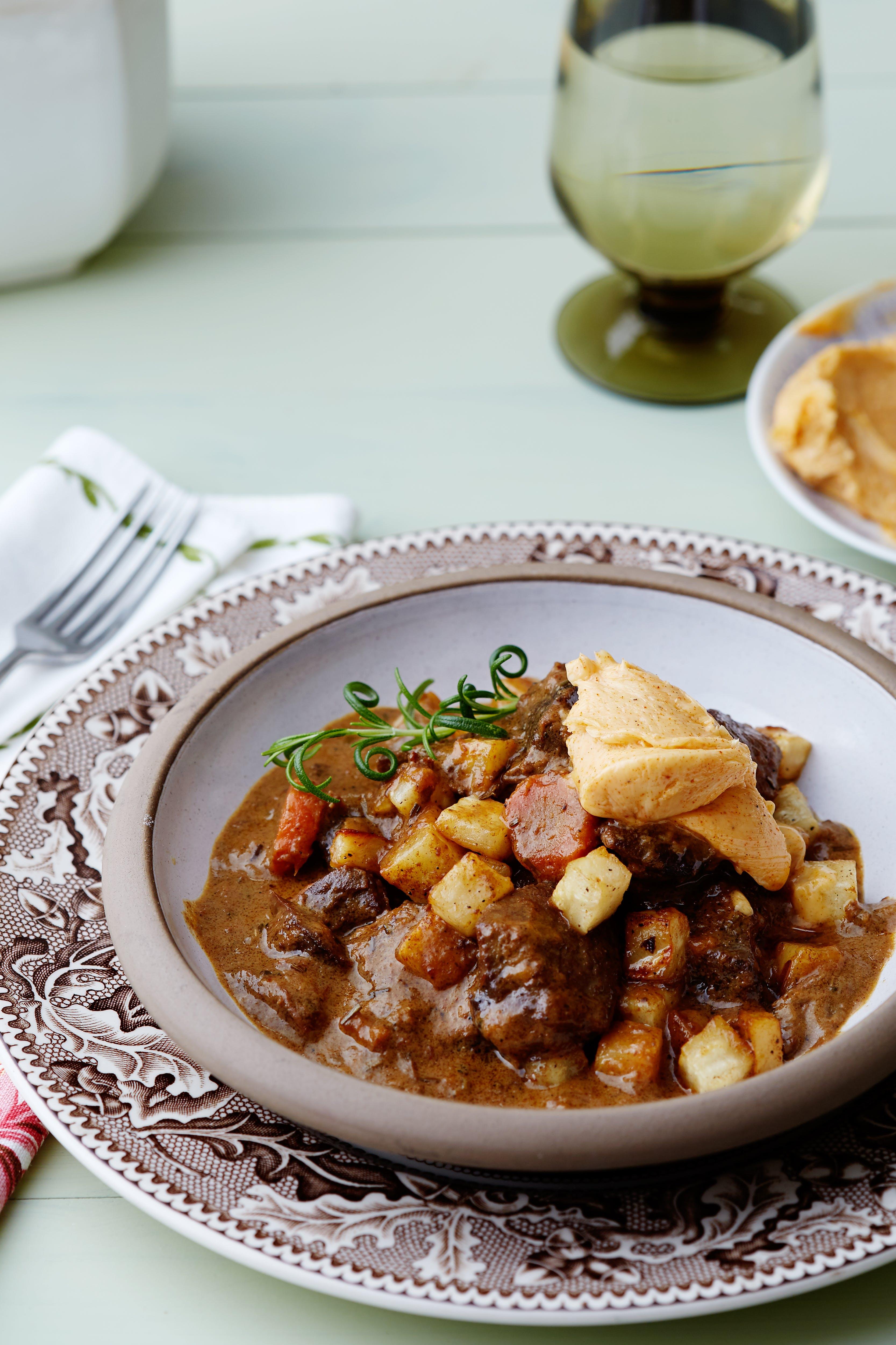 Creamy venison stew