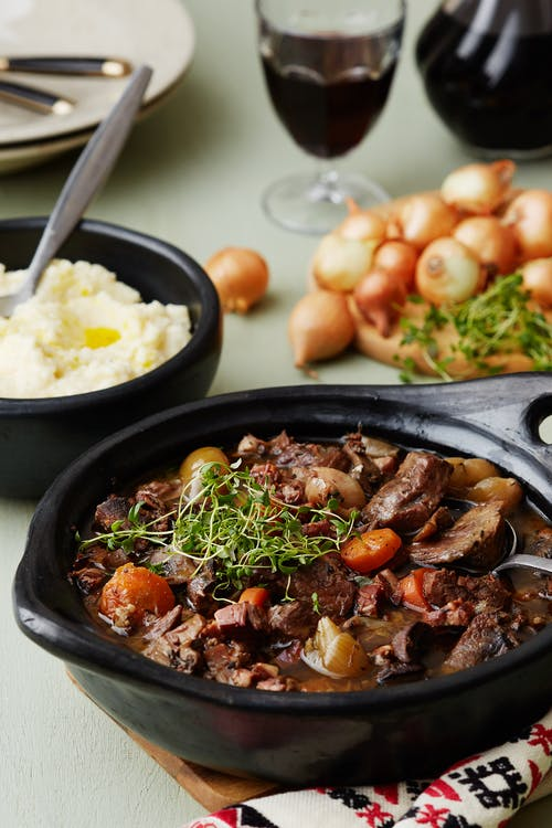 Boeuf Bourguignon with cauliflower mash