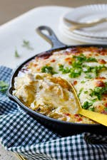Kristie's chicken Philly cheesesteak casserole