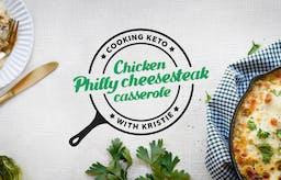 Cooking chicken Philly cheesesteak casserole with Kristie