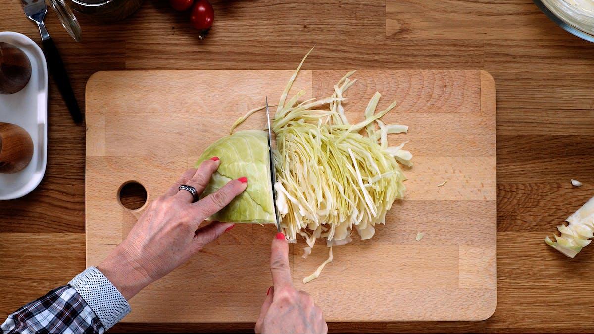 Roast beef with coleslaw