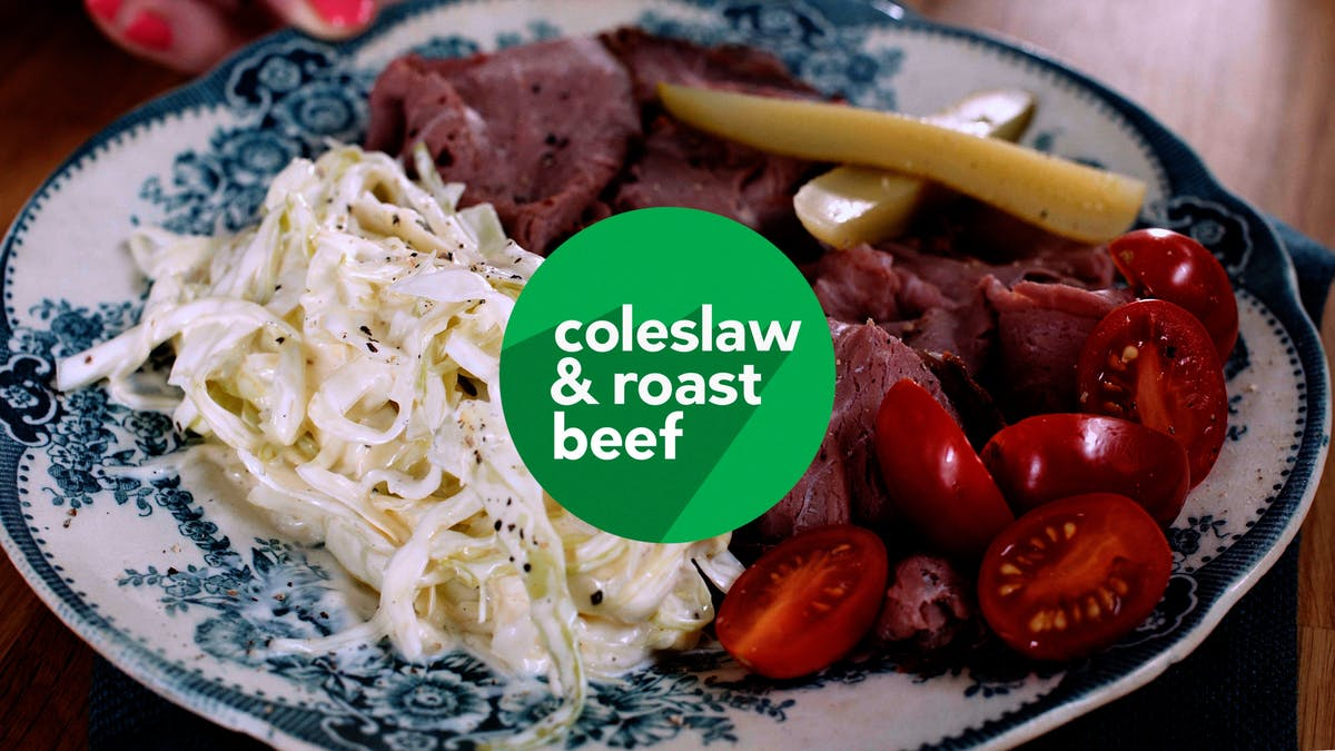 Cooking video: Roast beef with coleslaw in no time