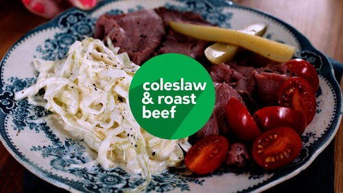 Roast beef with coleslaw