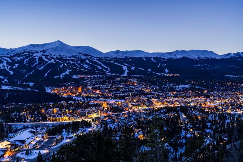 Breckenridge Colorado Winter Dusk Ski Runs