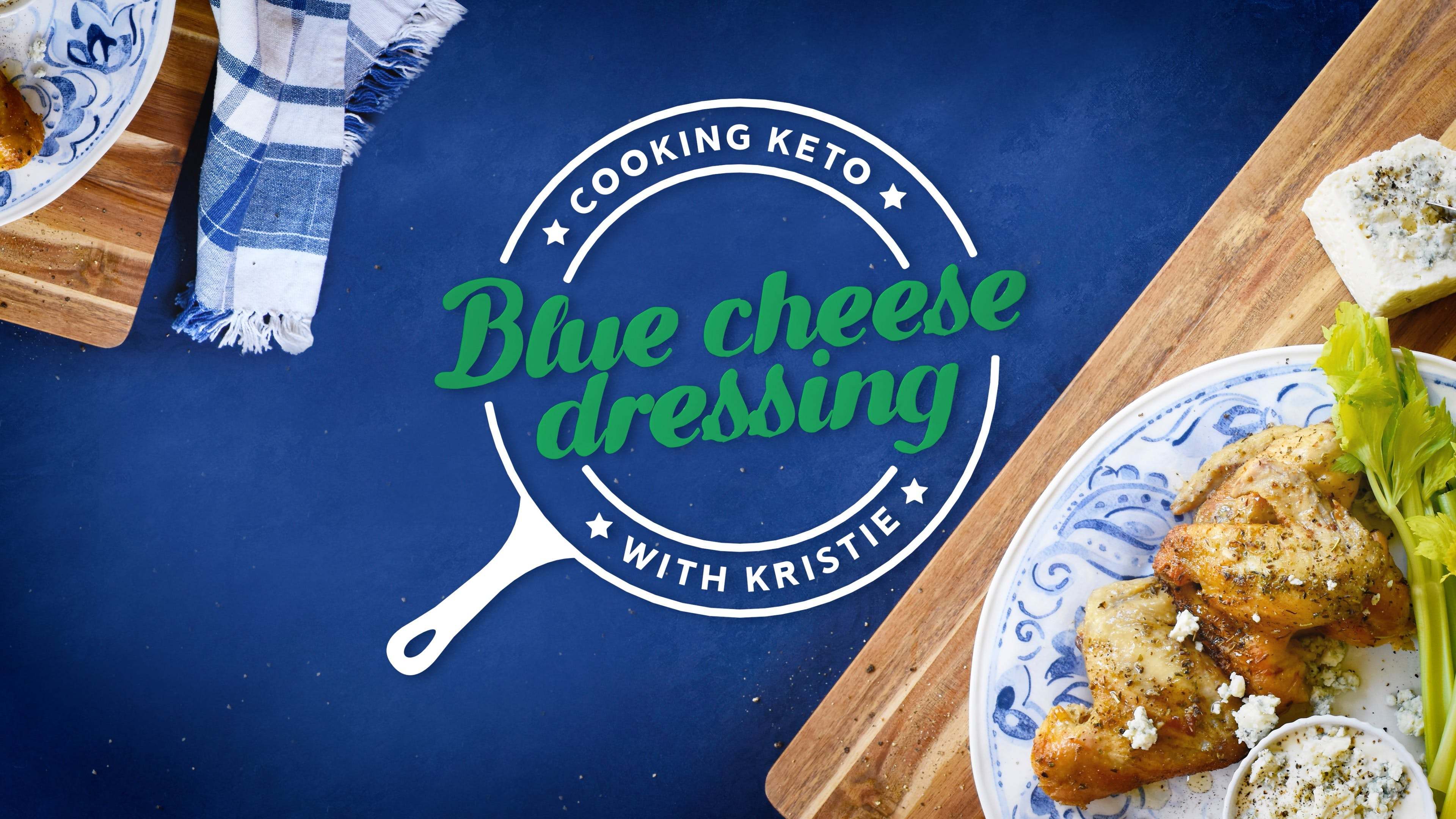 Cooking blue cheese dressing with Kristie