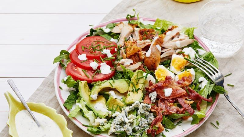 Keto Cobb salad with ranch dressing
