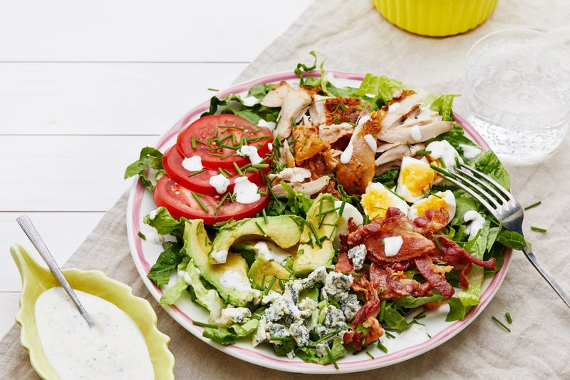 Keto Cobb salad with ranch dressing