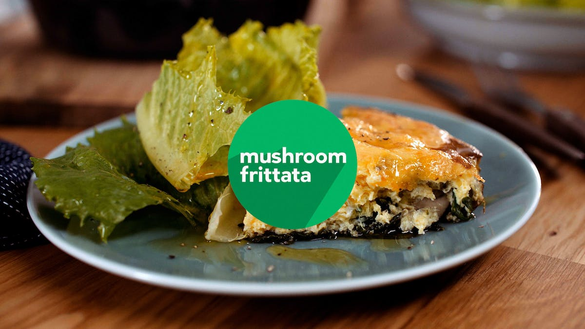 Cooking keto video: Mushroom frittata