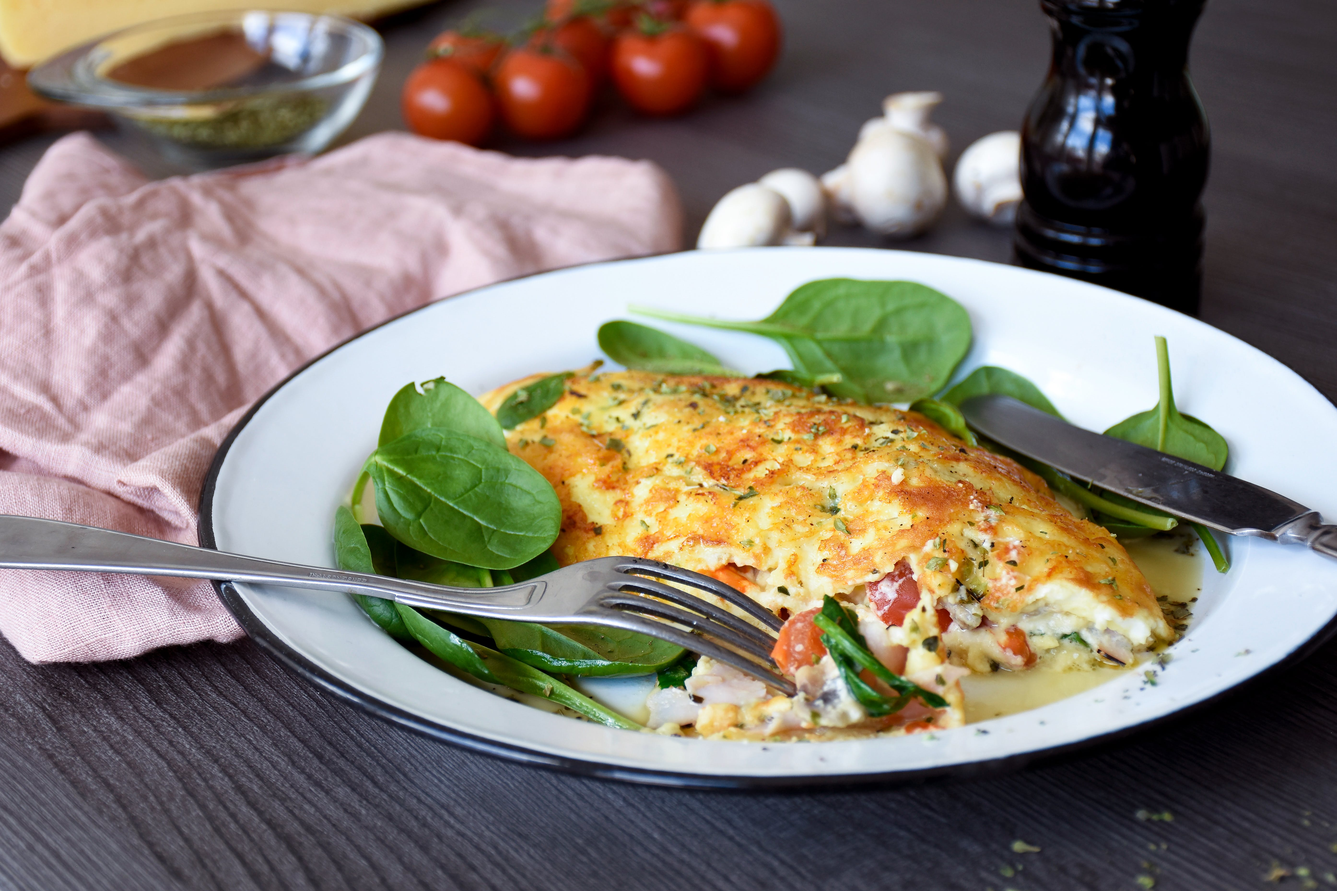 Jill's Cheese Crusted Omelet - A Keto Breakfast Favorite