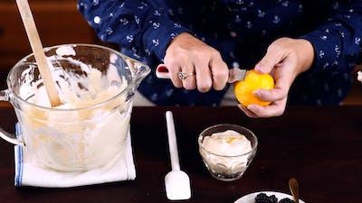 柠檬芝士蛋糕绒毛