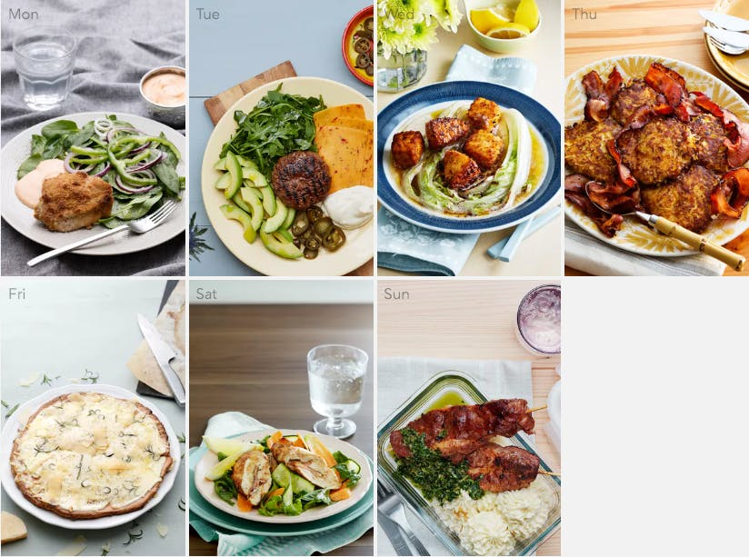 New keto meal plan - fresh and flavorful