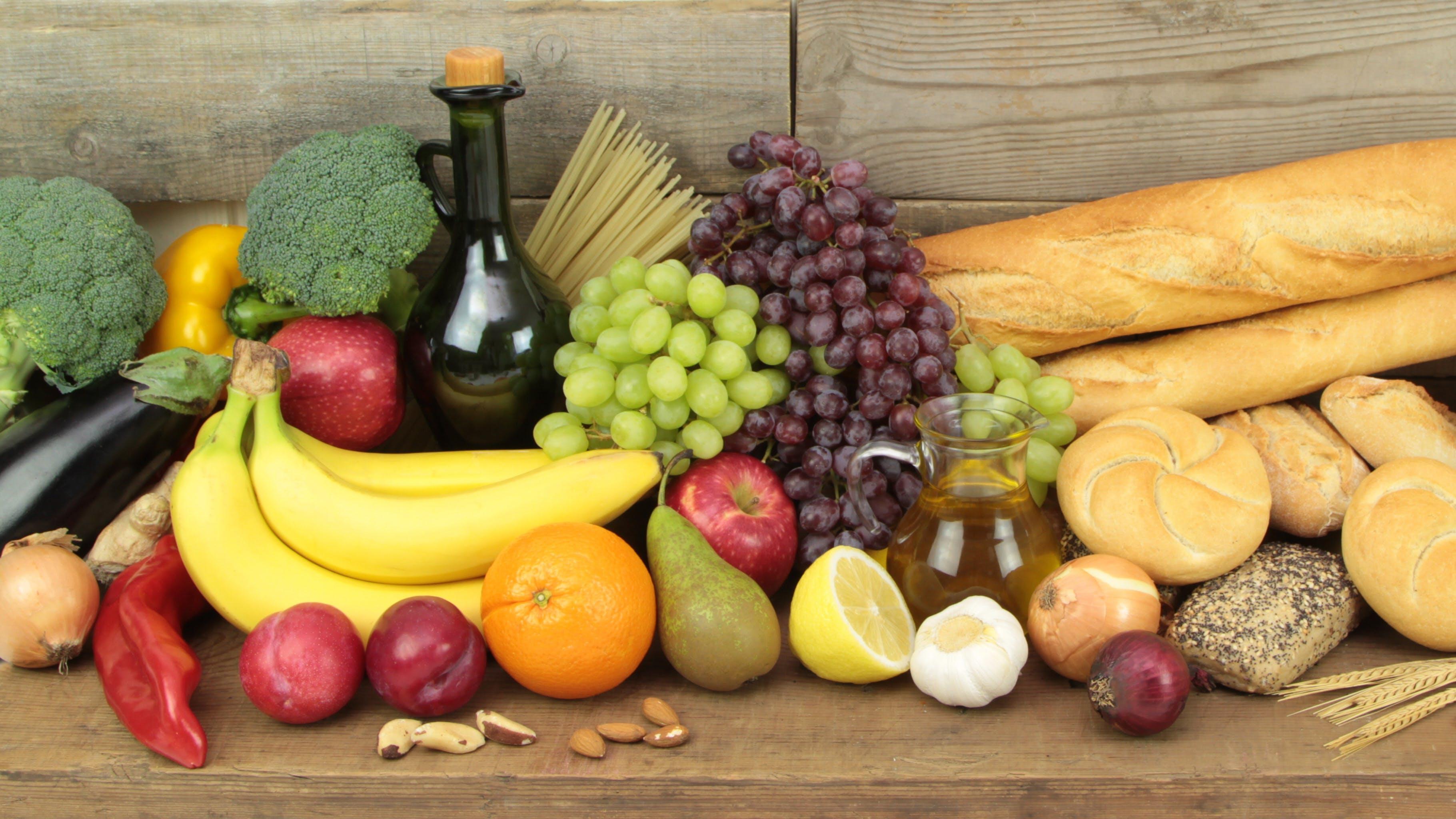 Various organic foods