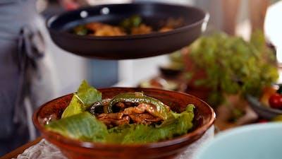 煮keto:鸡肉法希塔碗