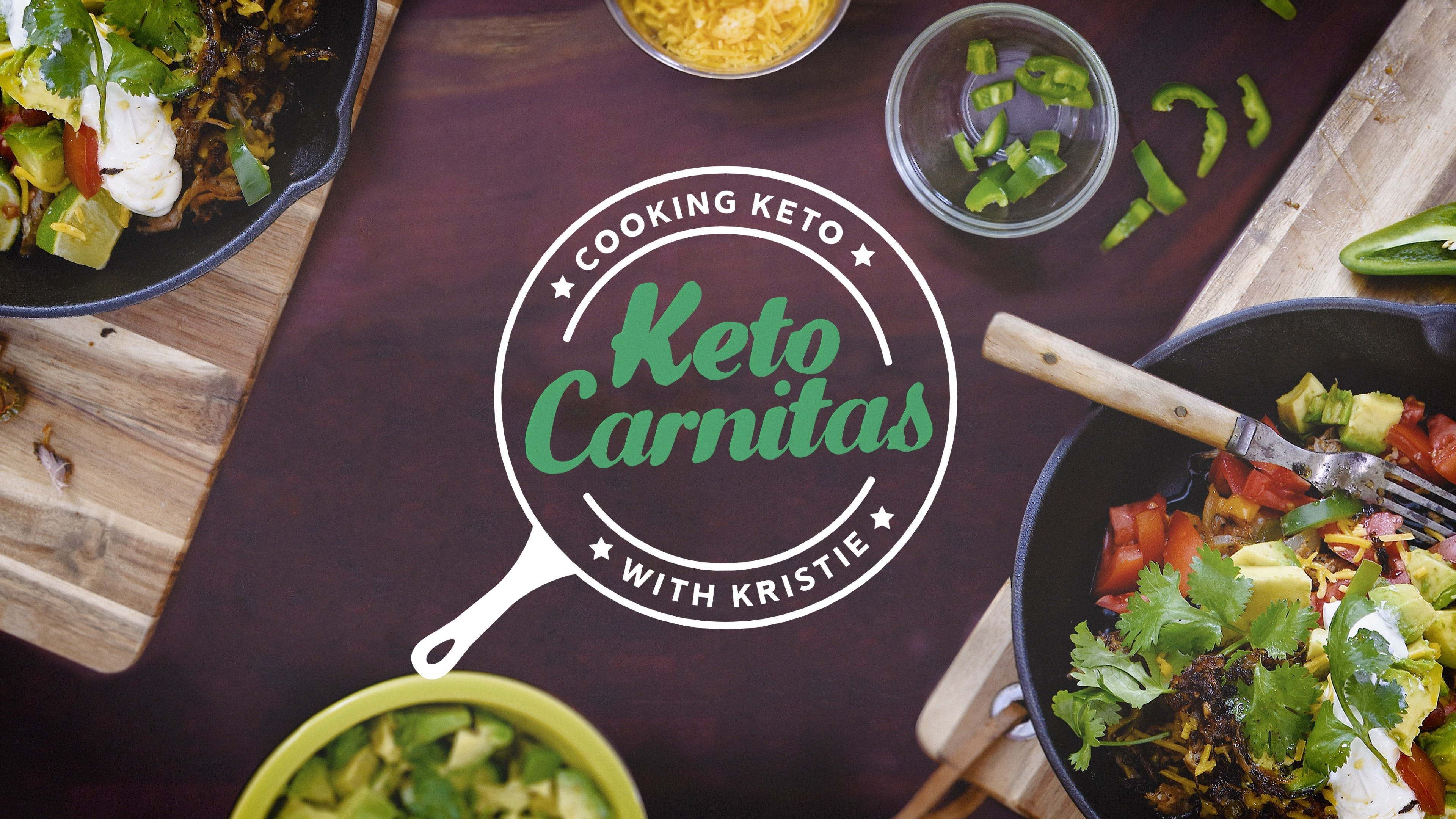 Cooking keto carnitas with Kristie