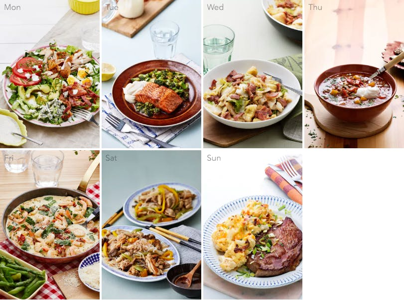 New low-carb meal plan - weeknight favorites
