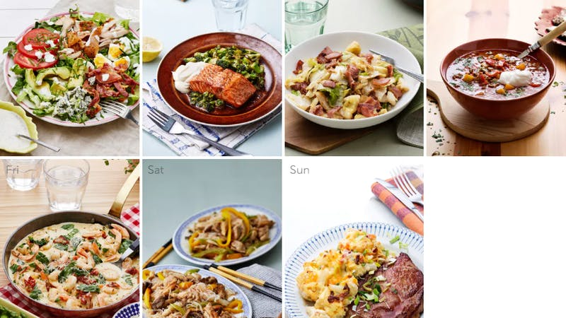 New low-carb meal plan - weeknight favorites