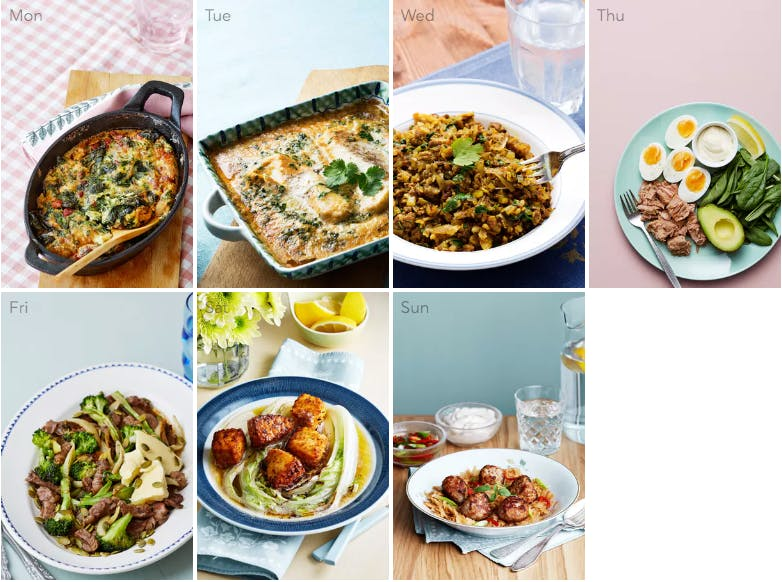This week's keto and dairy-free meal plan