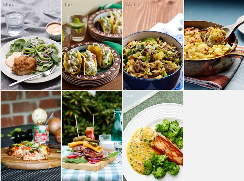 New keto meal plan – take out favorites