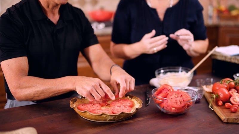 南部夏季番茄饼