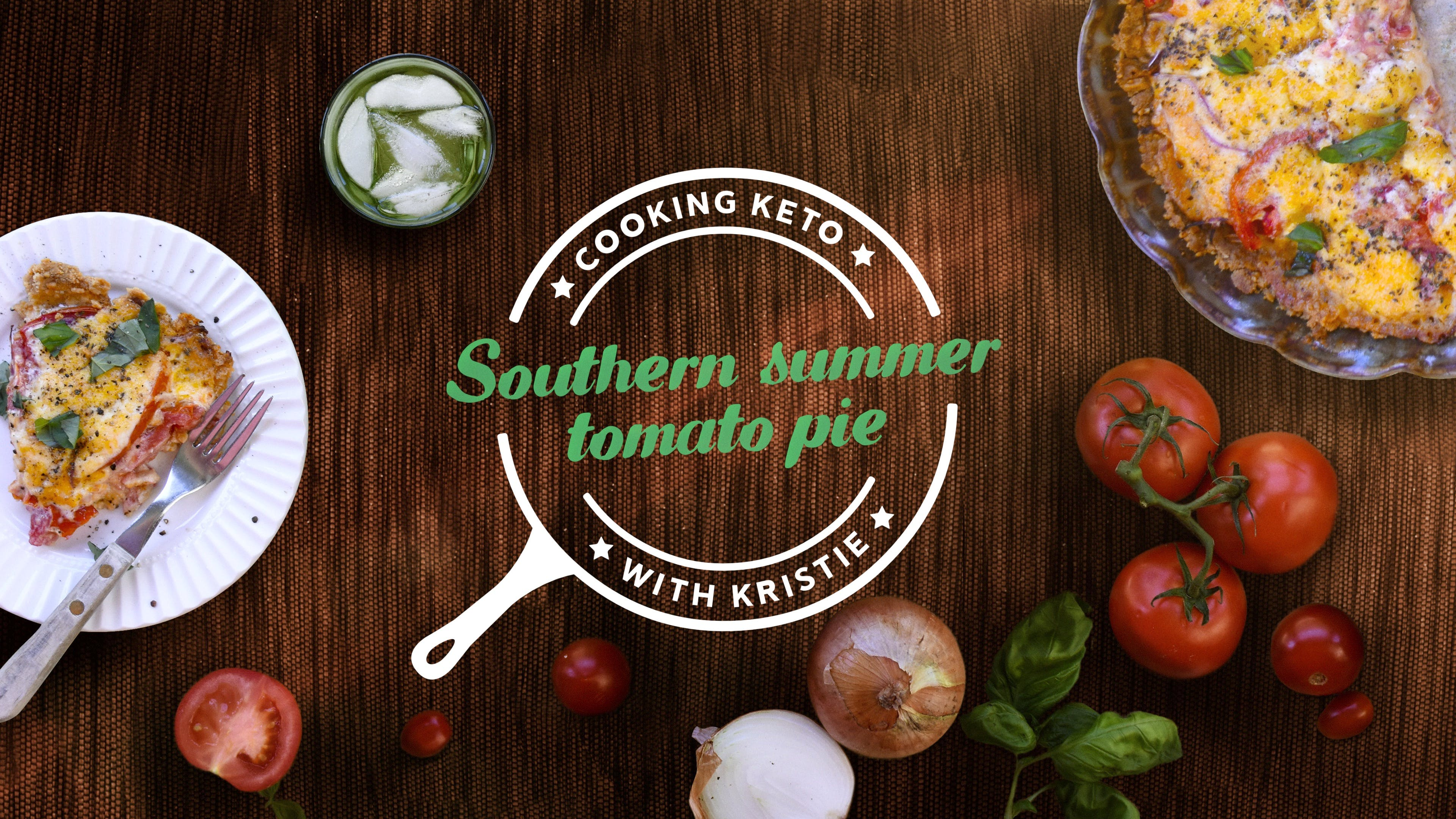 Southern summer tomato pie