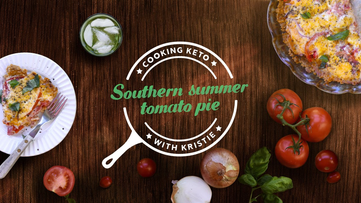 Cooking Southern summer tomato pie with Kristie