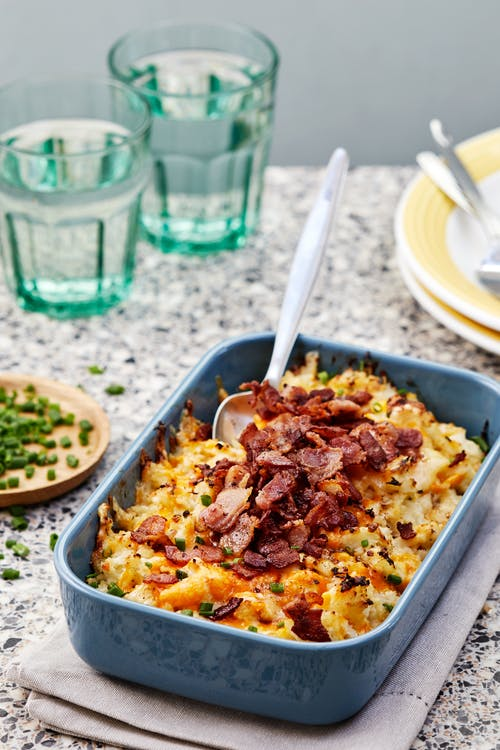 Loaded baked cauliflower casserole