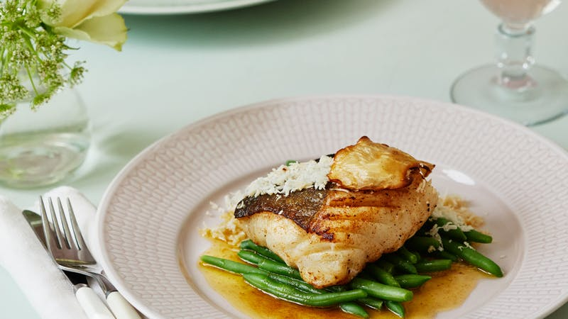 Cod loin with horseradish and browned butter