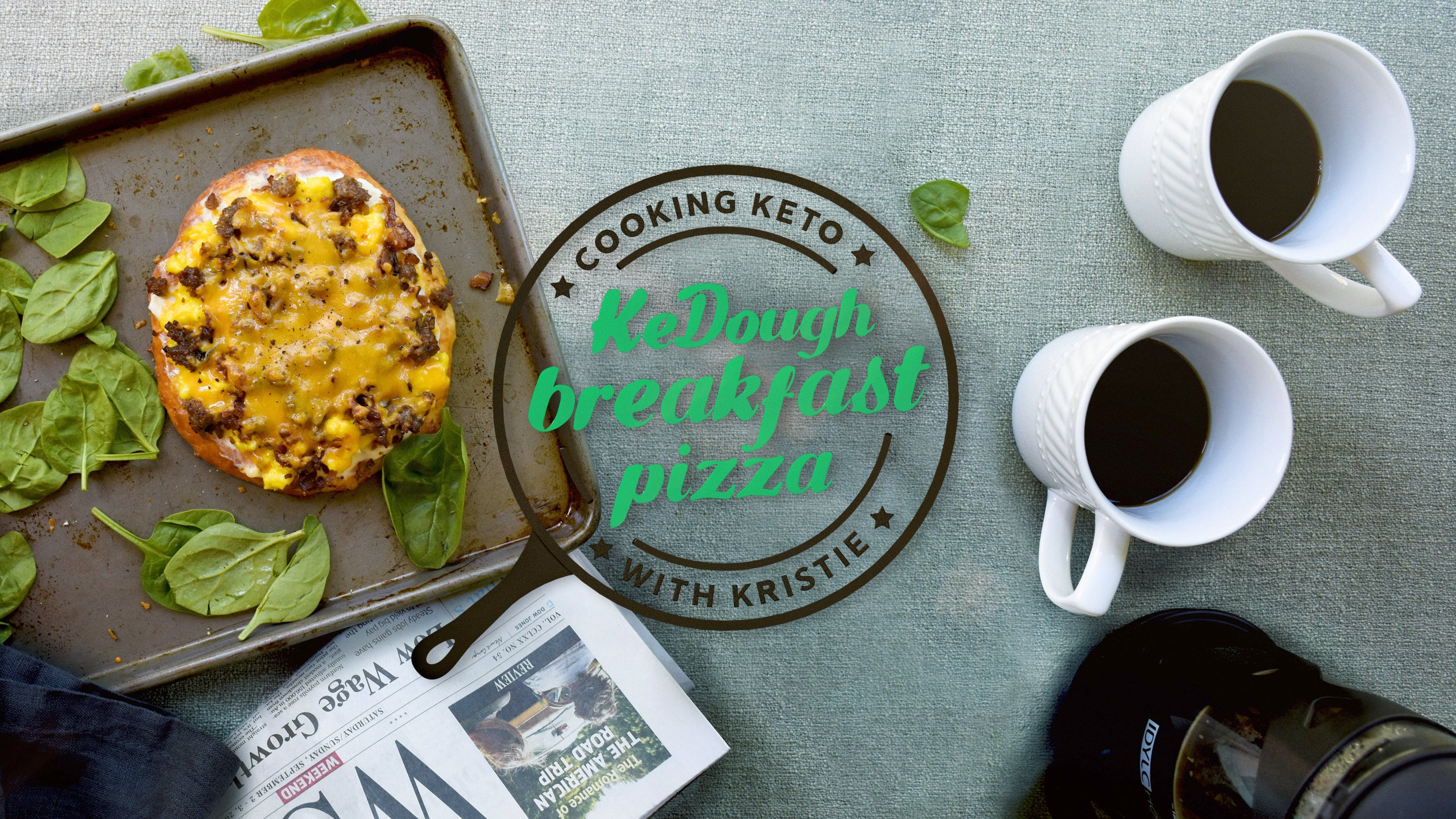 KeDough breakfast pizza