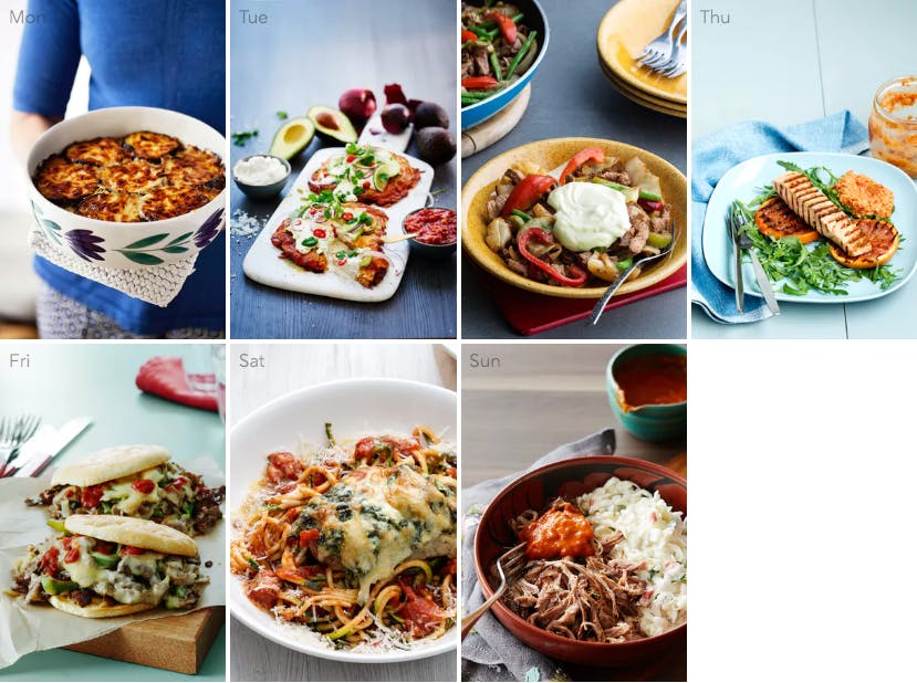 New low-carb meal plan – meat free Monday