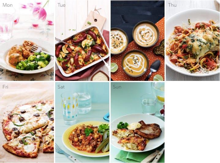 This week's low-carb meal plan – family favorites