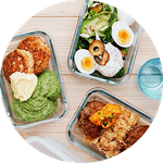 Packed keto meals