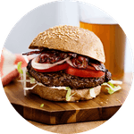 Low-carb hamburgers