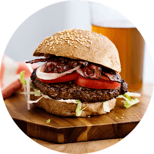 Low-carb and keto burgers