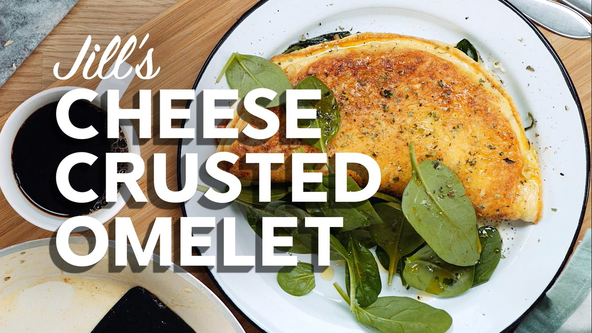 Jill's cheese-crusted omelet