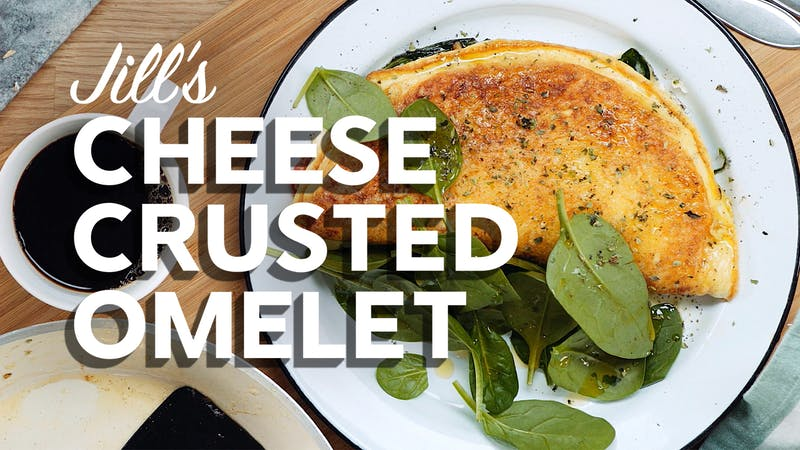Cheese crusted omelet