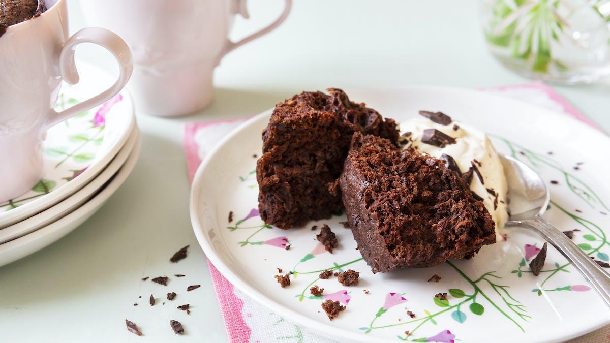 Keto mug cake with chocolate
