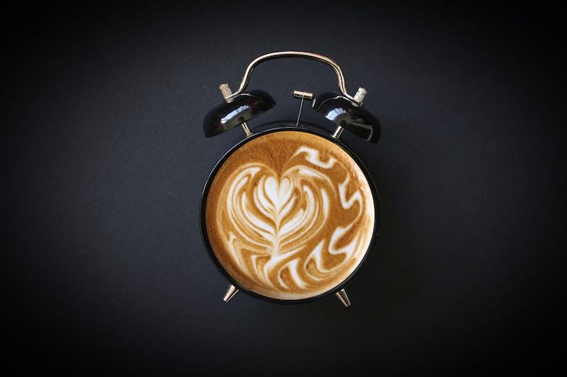 Hot Coffee Retro Alarm Clock