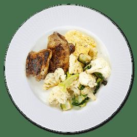 Dinner plate 100 g chicken