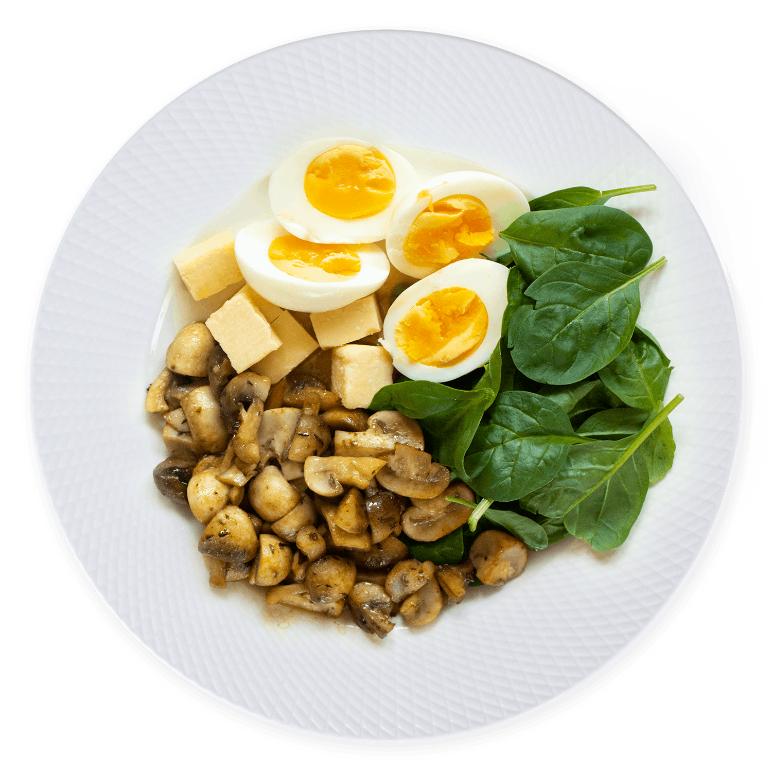 Breakfast plate 30 g cheese 2 eggs
