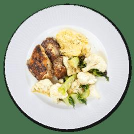 Dinner plate 80 g chicken