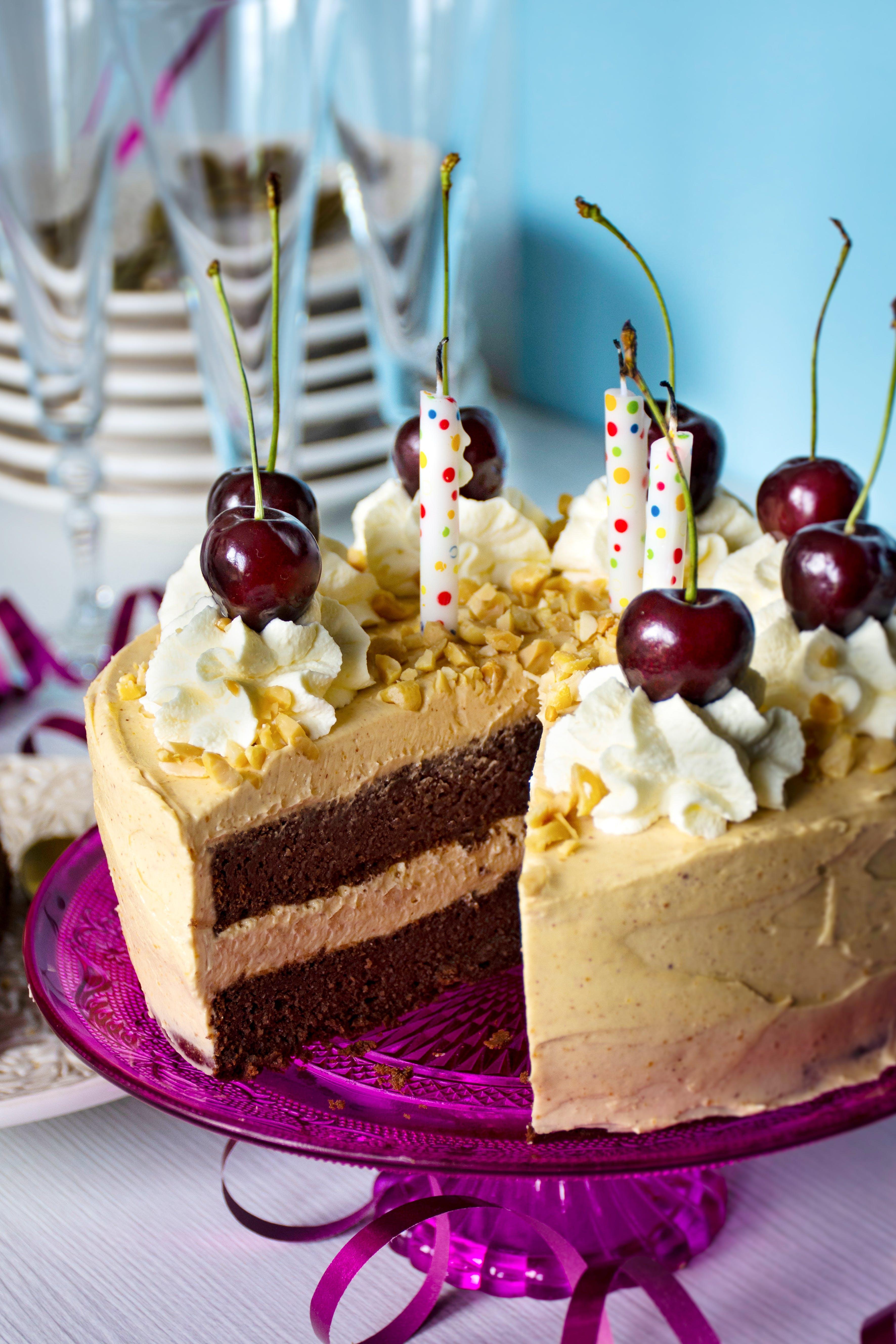 Keto chocolate cake with peanut buttercream
