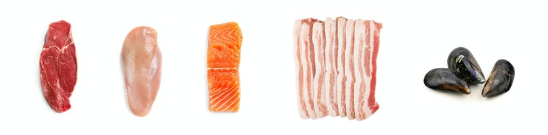 Raw meat and seafood – good keto options