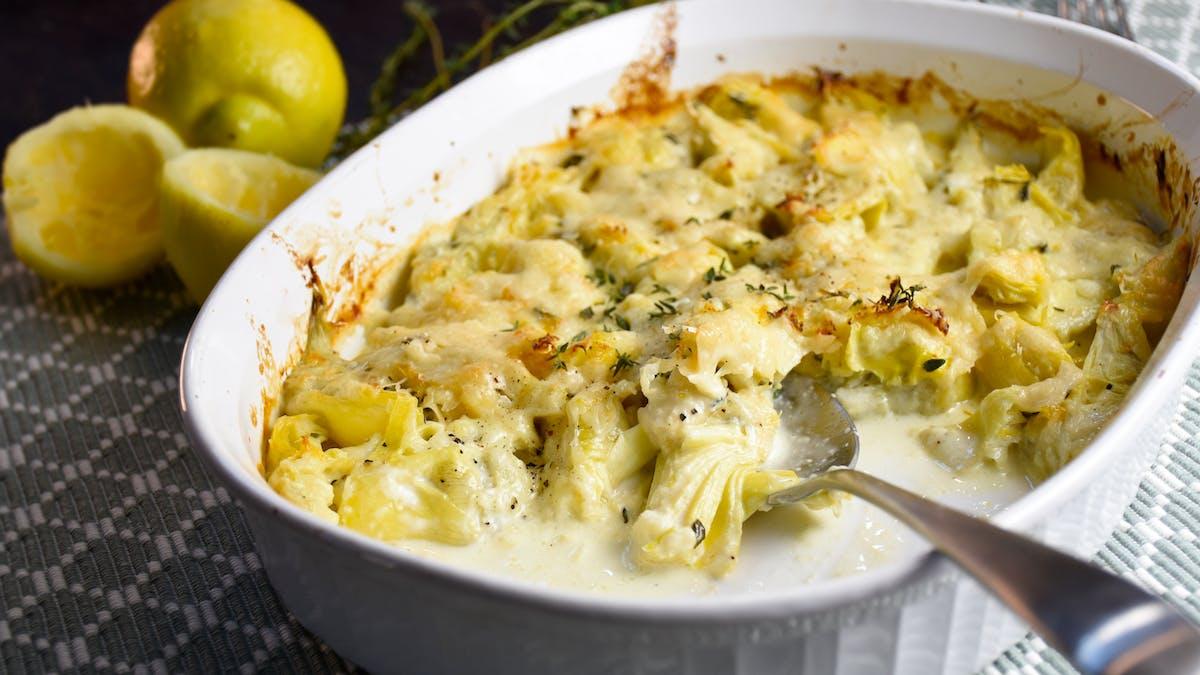 Lemon cream artichokes