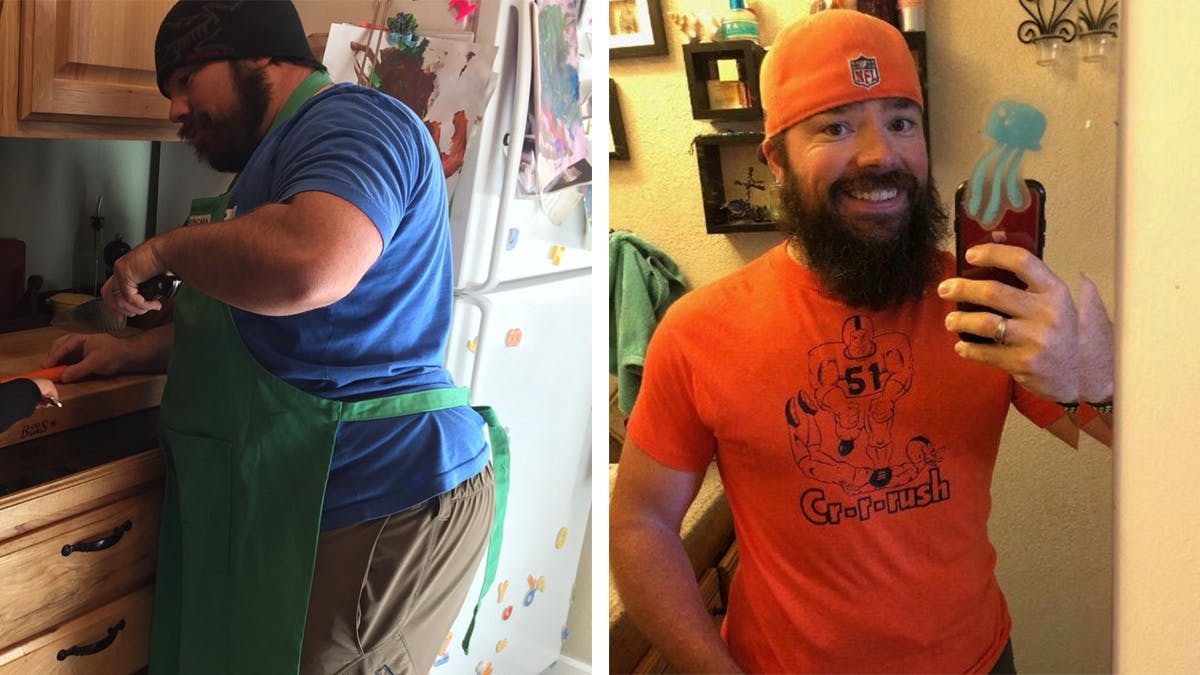 Dad lost 91 lbs thanks to keto and running!
