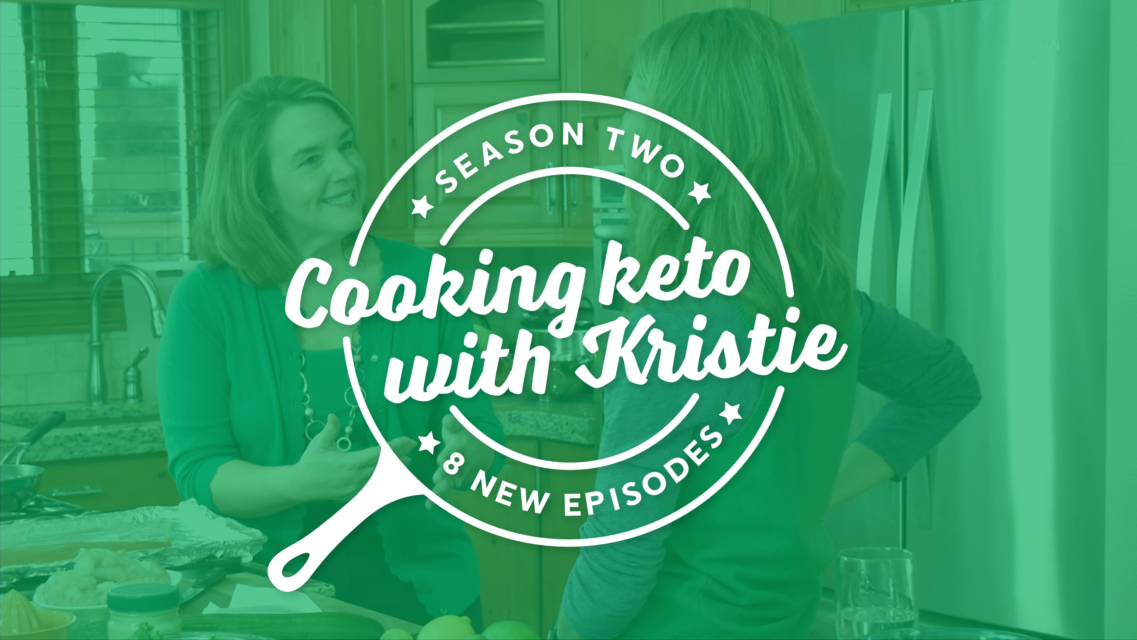 Kristie cooking keto with Dr. Sarah Hallberg