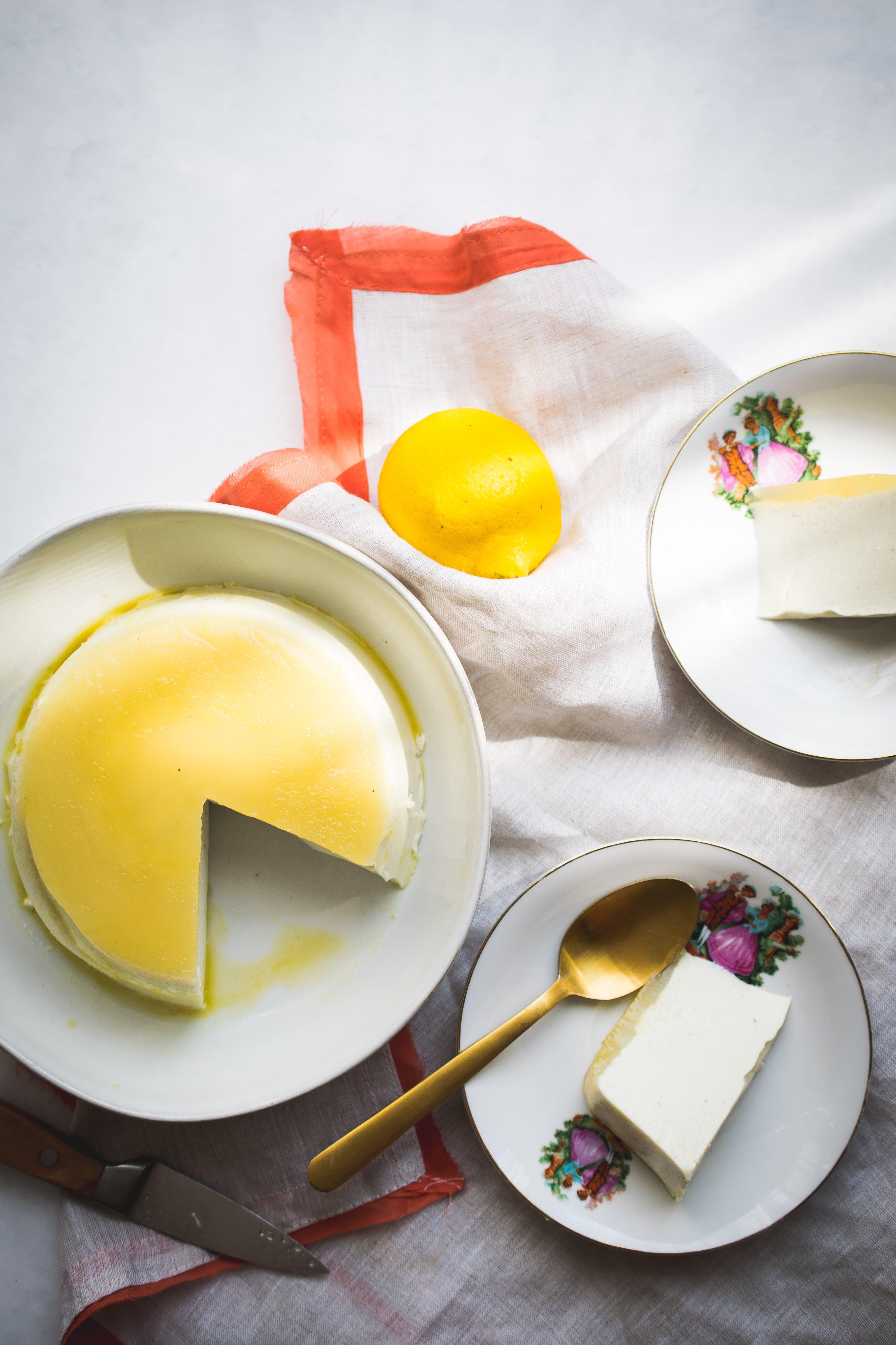 Low-carb no bake egg-free flan