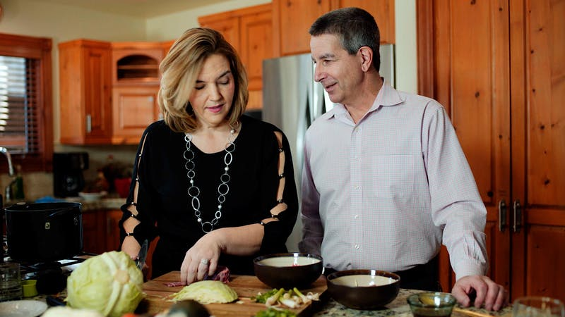 Kristie cooking keto with Dr. Jeffry Gerber