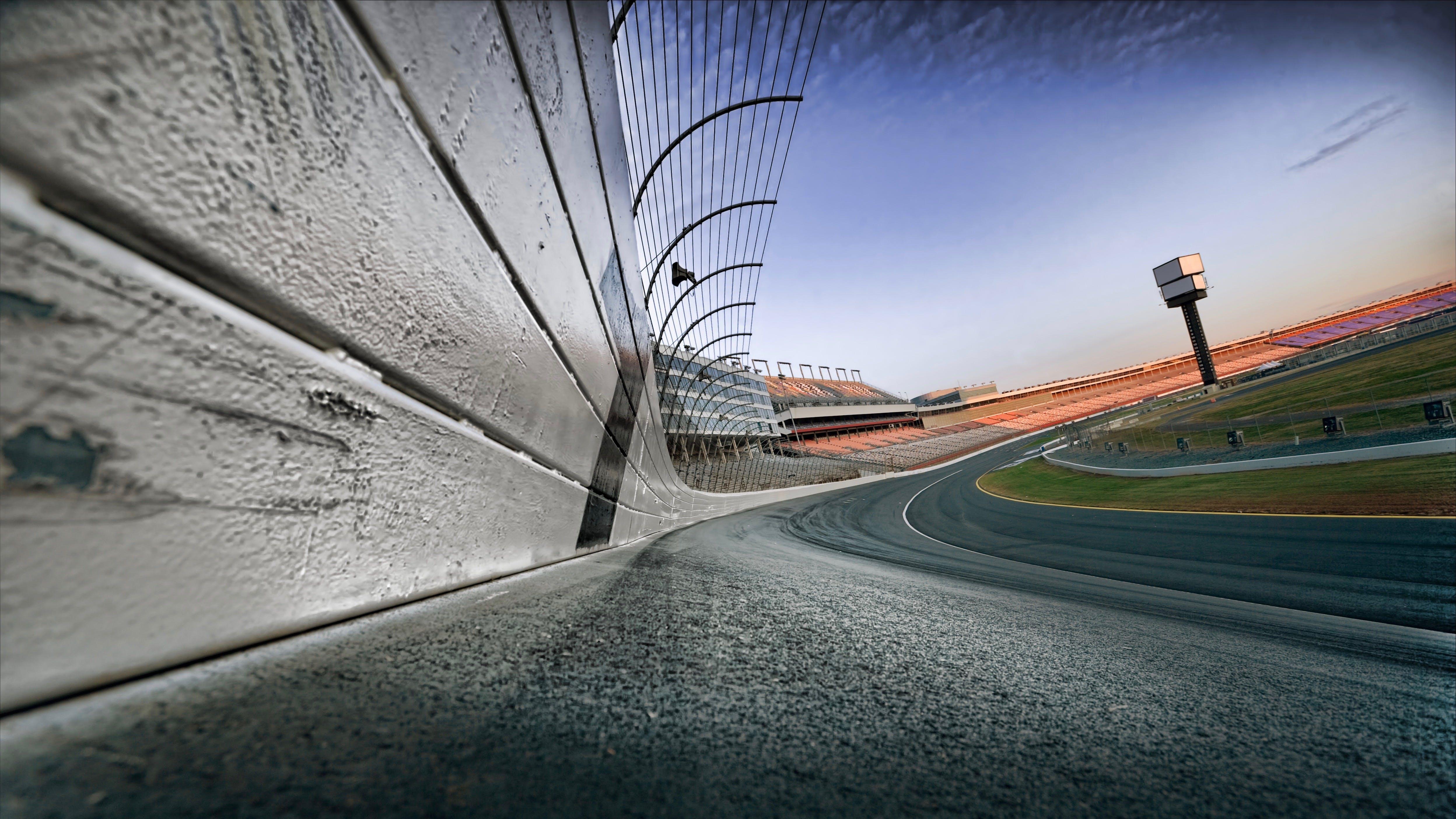 NASCAR race track at dawn